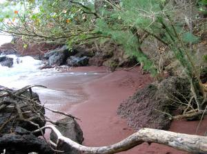 Red sand beach, near Hana, HA